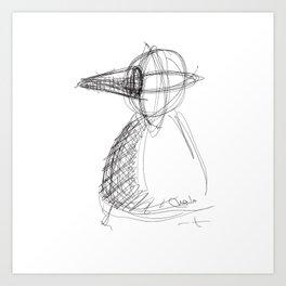 Metaphysical Penguin Art Print