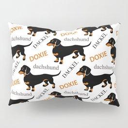 Black Tan Smooth Dachshund Pillow Sham