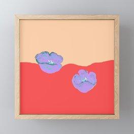 Purples poppies S44 Framed Mini Art Print