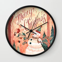 Christmas Card 2015 Wall Clock