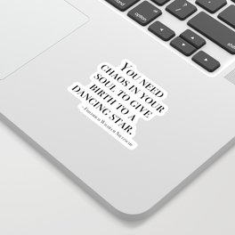 You need chaos in your soul Sticker