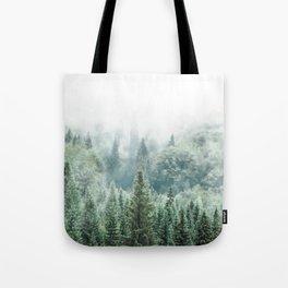 Forest Print, Woodland Print, Modern Landscape Decor Tote Bag