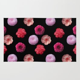 Pattern with camellias Rug