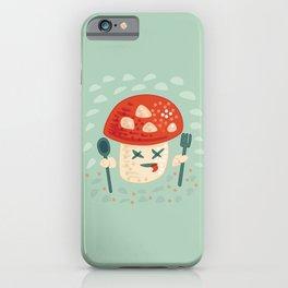Funny Cartoon Poisoned Mushroom iPhone Case