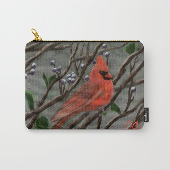 Male Cardinal DP151210a-14 Carry-All Pouch