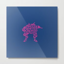 Dva type illustration Metal Print