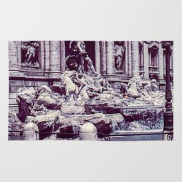 Vintage Photo * 1940's * Fontana di Trevi * Trevi Fountain * Rome * Italy Rug