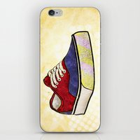 vans iPhone & iPod Skins featuring Man I Need Vans - Classic Sneaker Icon by Dave Conrey
