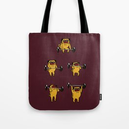 Clean and Jerks Pug Tote Bag