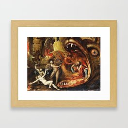 Demons and creatures Framed Art Print