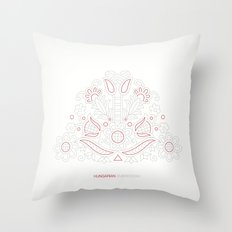 Hungarian Embroidery no.14 Throw Pillow