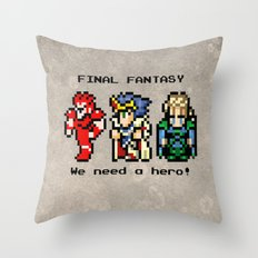 We Need A Hero Throw Pillow