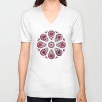 stained glass V-neck T-shirts featuring Stained Glass by NeoQlassical