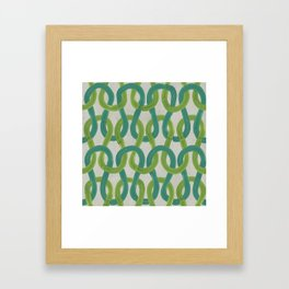 KNIT WIT LEAF with Concrete backround Framed Art Print