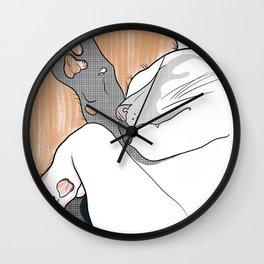 Napping Cat Wall Clock