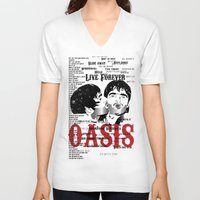 oasis V-neck T-shirts featuring Oasis by Colo Design