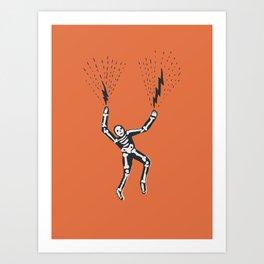 bolt hands Art Print