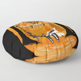 Happy Halloween Cats Floor Pillow