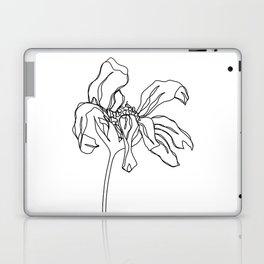 Botanical floral illustration line drawing - Katy Laptop & iPad Skin