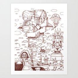 Childhood Dreams Art Print