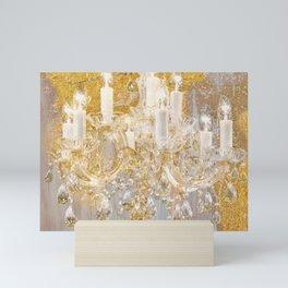 Shabby Glam Chandelier Mini Art Print