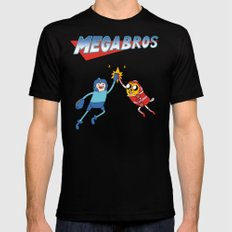 Mega Bros X-LARGE Black Mens Fitted Tee