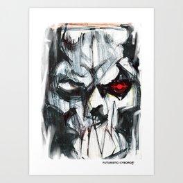 Futuristic Cyborg 4 Art Print