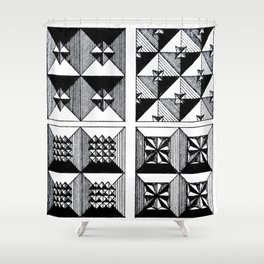 Engraved Patterns Shower Curtain
