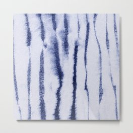 Indigo Ink Washed Lines Metal Print