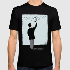 Serial Twitter Mens Fitted Tee Black SMALL