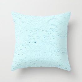 Swans a flying bywhacky Throw Pillow
