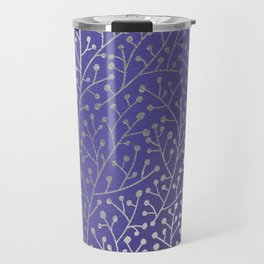 Periwinkle Berry Branches Travel Mug