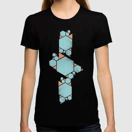Geometric Hexagons and Triangles T-shirt