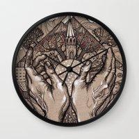 circle Wall Clocks featuring Circle by Iris V.