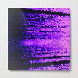 Purple Crystal Pixels Metal Print