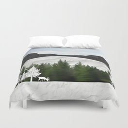 Forest Scene Duvet Cover