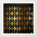 Black and gold geometric abstract pattern II- Luxury design for your home by simplicity_of_live