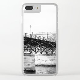 Paris in Black and White, Pont des Arts Clear iPhone Case