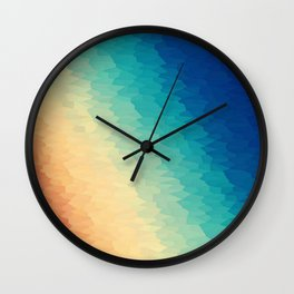Warm to Cool Texture Wall Clock