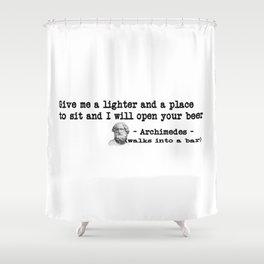 Archimedes Walks Into A Bar #1 Shower Curtain