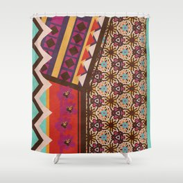 Zimbabwe Multi With Texture Shower Curtain