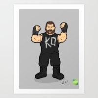 Kevin Owens - Pro Wrestling Illustration Art Print