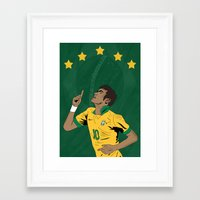 neymar Framed Art Prints featuring Neymar by Little Aig
