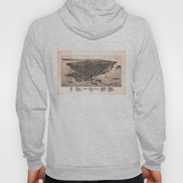 Bird's Eye View of Key West, Florida (1884) Hoody