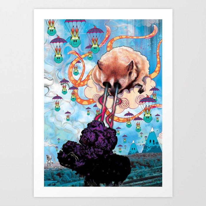 Attack of the Super Furry Animals! Art Print