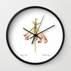 Fading Tulip Wall Clock