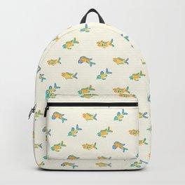 Pastel fish pattern Backpack