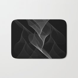 Black and White Flux #minimalist #homedecor #generativeart Bath Mat