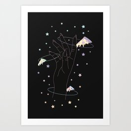 Lost One - Space Pizza Illustration Art Print