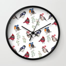 Birds of a Christmas feather Wall Clock